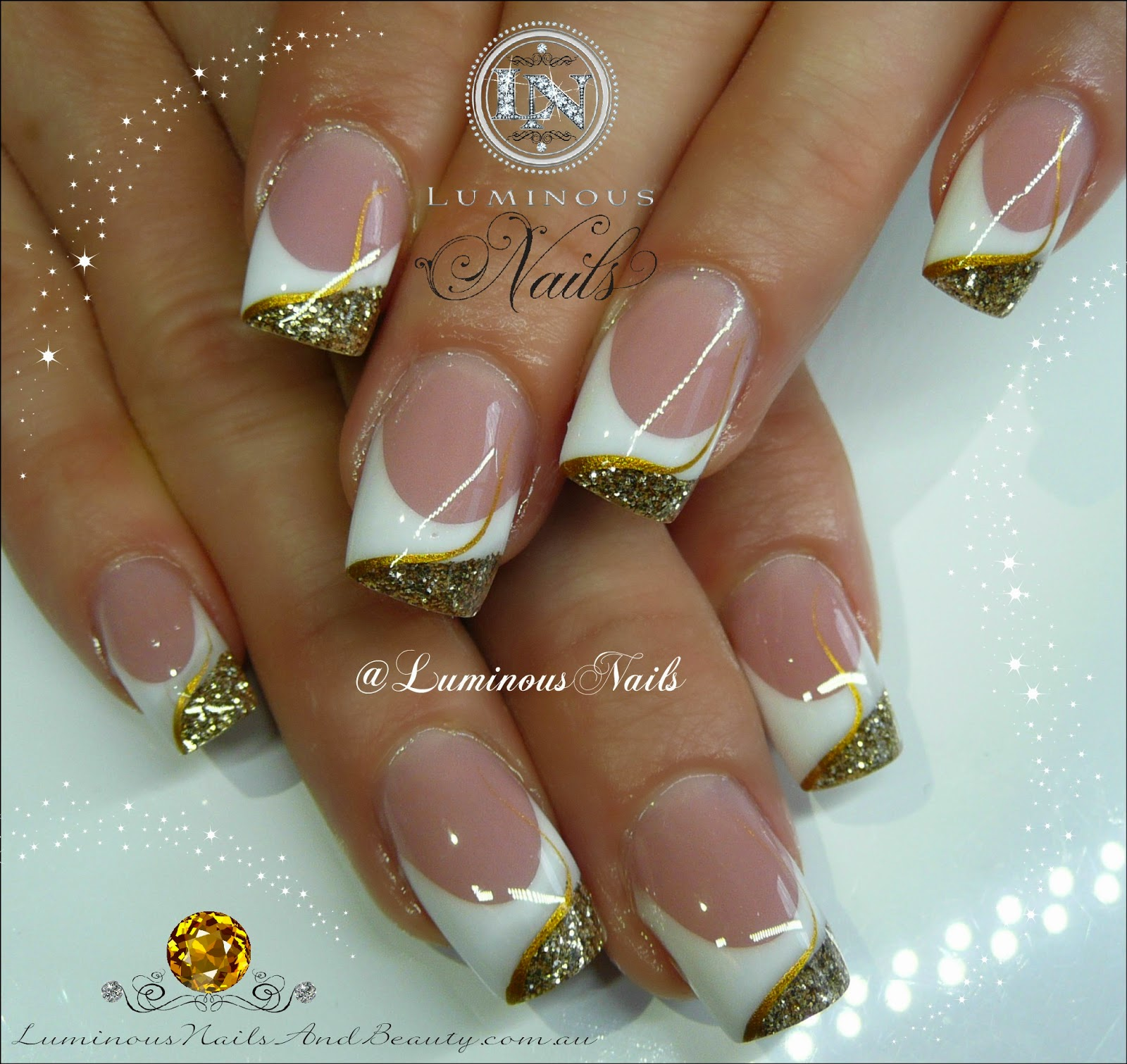 White and gold nail designs white and gold nail designs 36 trendy nails with golden designs fashion diva design prinsesfo Images