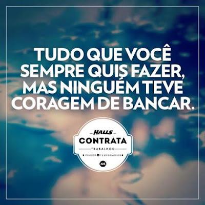 """Concurso """" Halls Contrata """""""