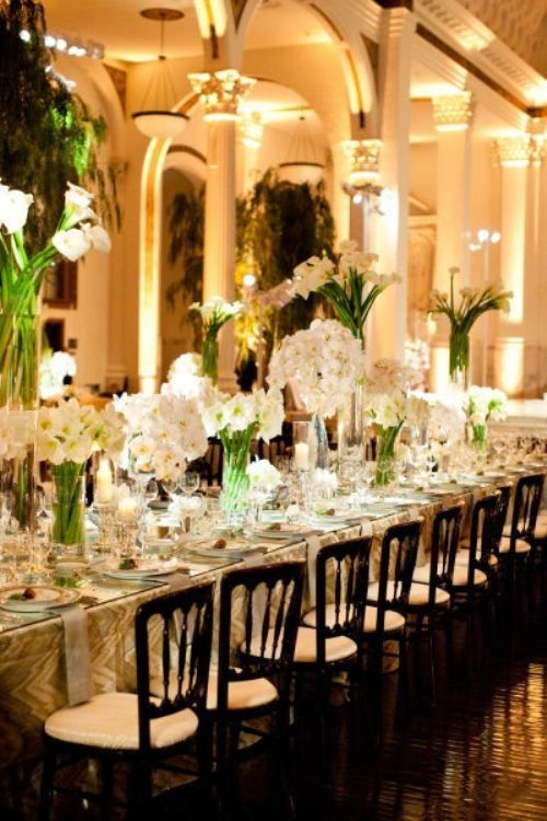 Bon Here Are Some Of Our Favorite Centerpieces And Decor For Long Tables: