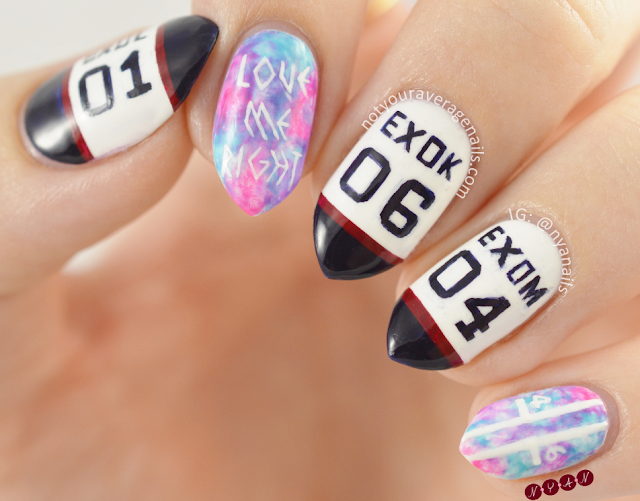 EXO Love Me Right Nail Art