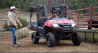 2014 Honda Pioneer 4 in red. Best price on Honda Pioneer 4 at Southern Honda Powersports.