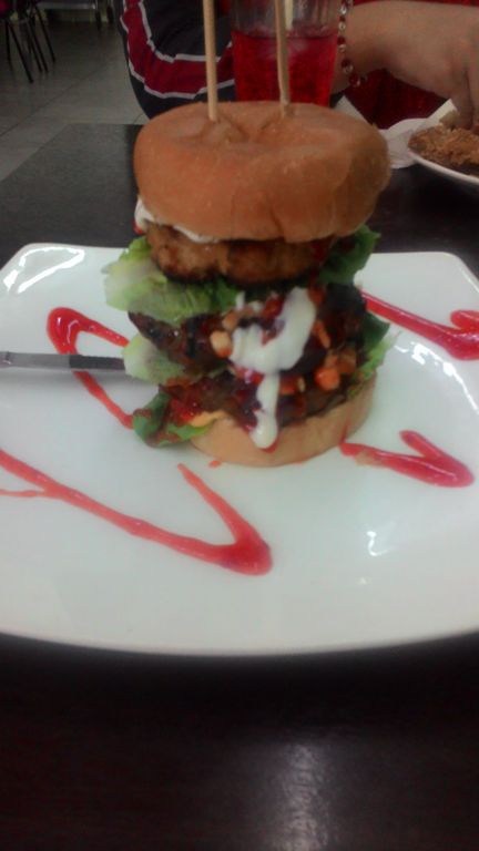 rayyan burger bakar, tempat makan western di shah alam, harga, menu, grilled lamb chop, homemade burger
