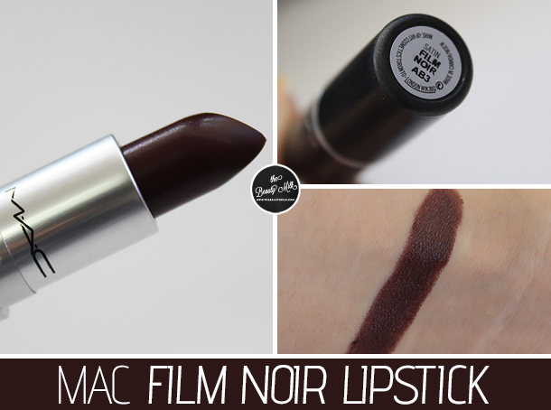 mac film noir lipstick review swatch