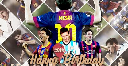 Les Fans De France Football Joyeux 28e Anniversaire Lionel Messi