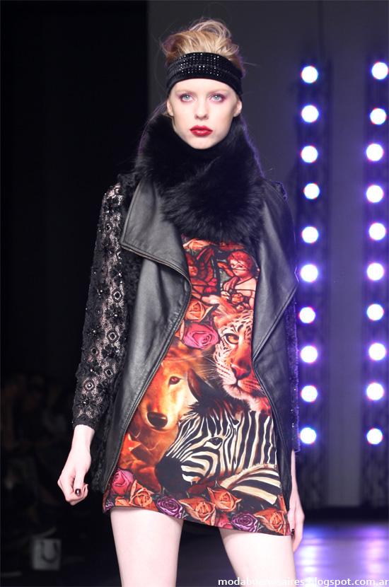 Bafweek Kosiuko otoño invierno 2014. Moda otoño invierno 2014 vestidos cortos invierno 2014.