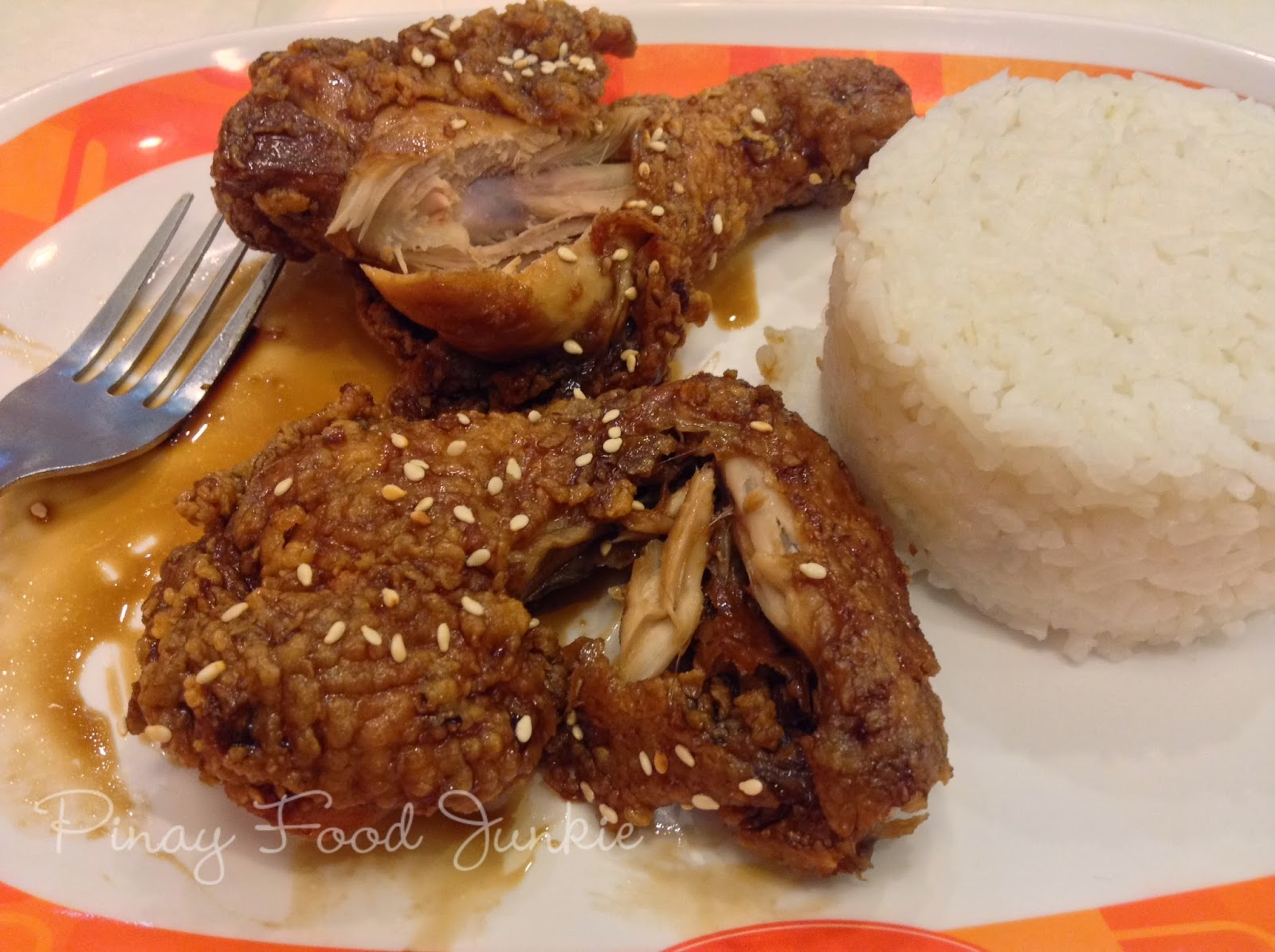 Eating manang's soy garlic chicken  2
