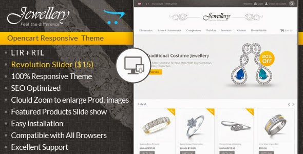 free Opencart Responsive Template