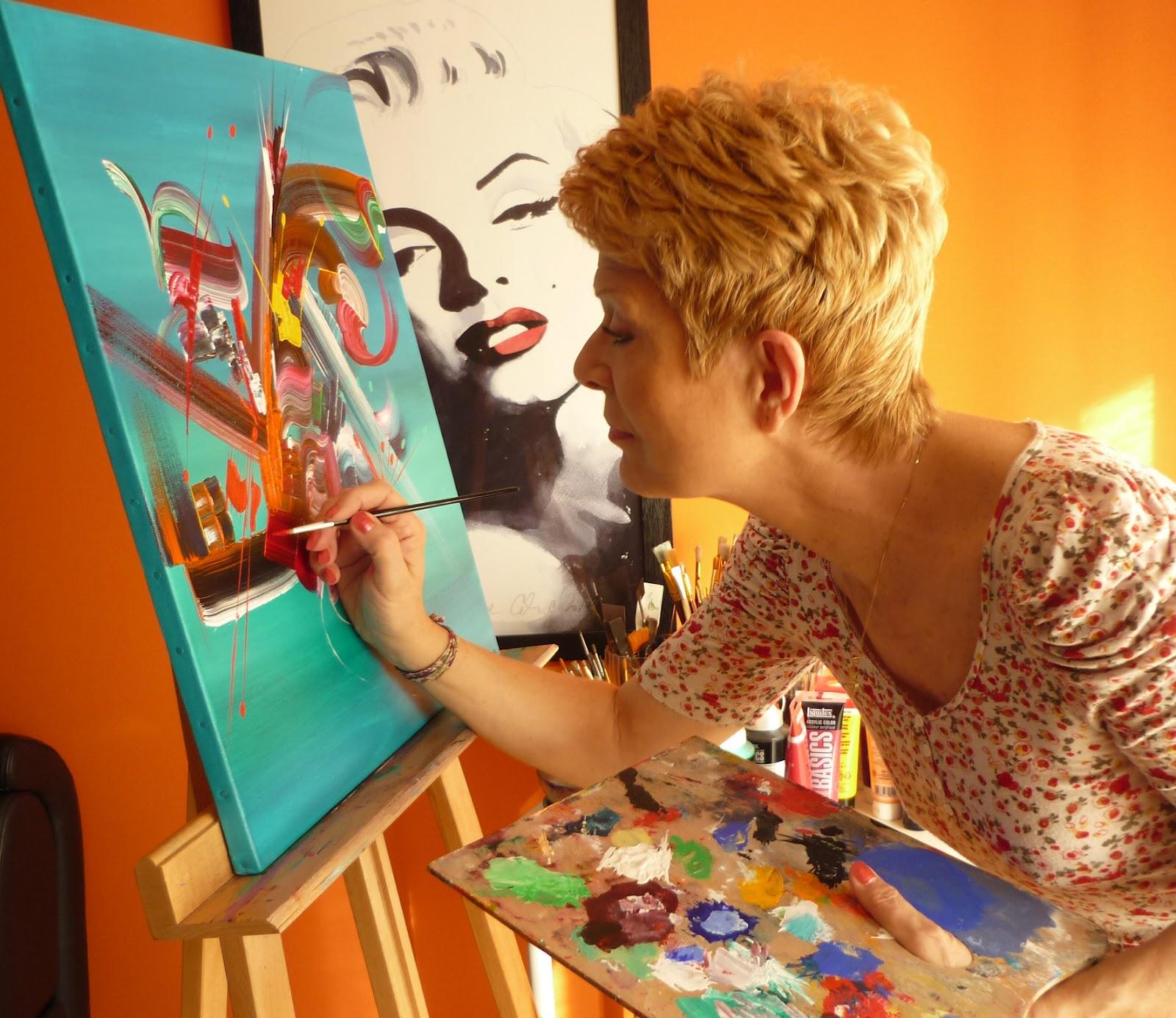 Ma peinture sur toile peinture abstraite martine for Biographie artiste peintre