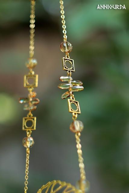 украшения, бижутерия, кулон, колье, комплект украшений, золото, желтый, чай