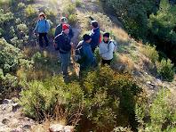 El grup fotografiat des de dalt de l'estança central