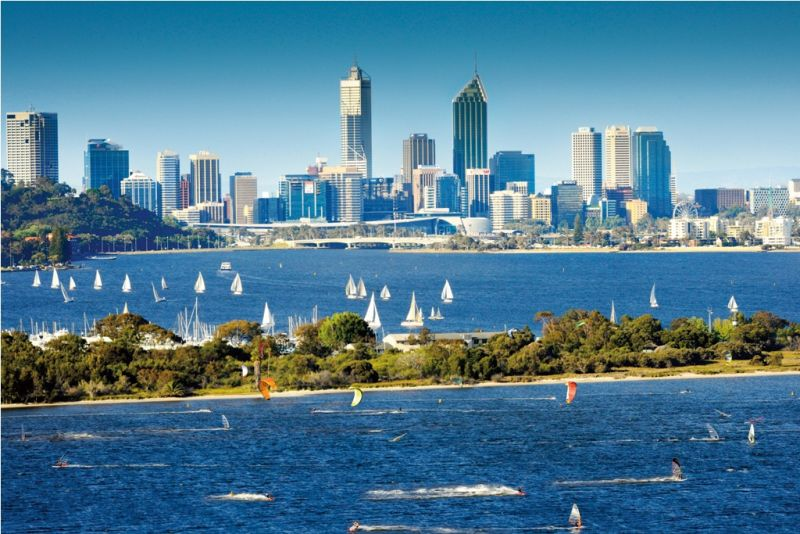 Beautiful Harbor In Perth City Australia World Fun Vacation