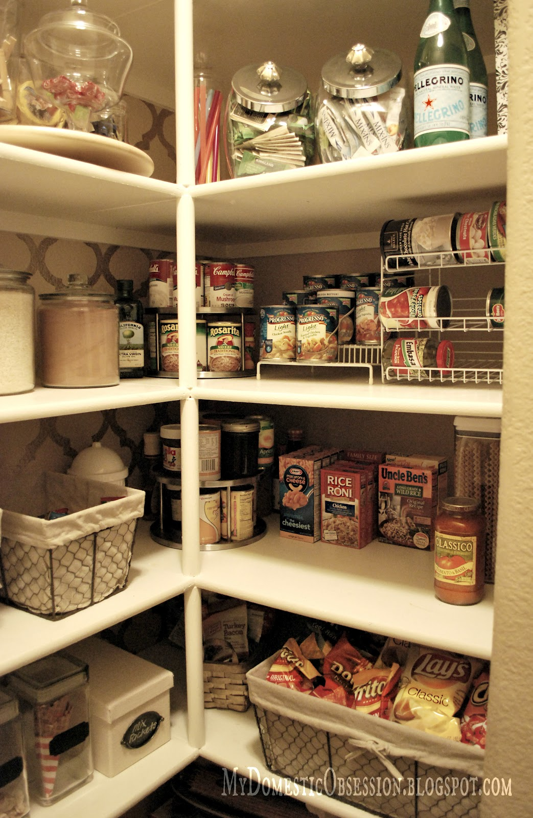 My Domestic Obsession Pantry Makeover Reveal