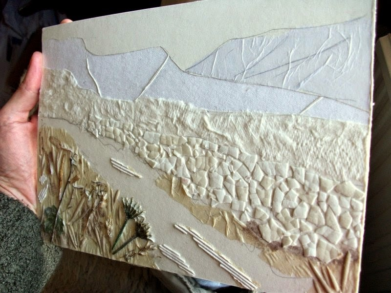 Collagraph plate printmaking landscape Yorkshire Dales
