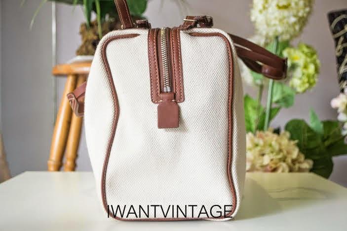 celine leather bowling bag