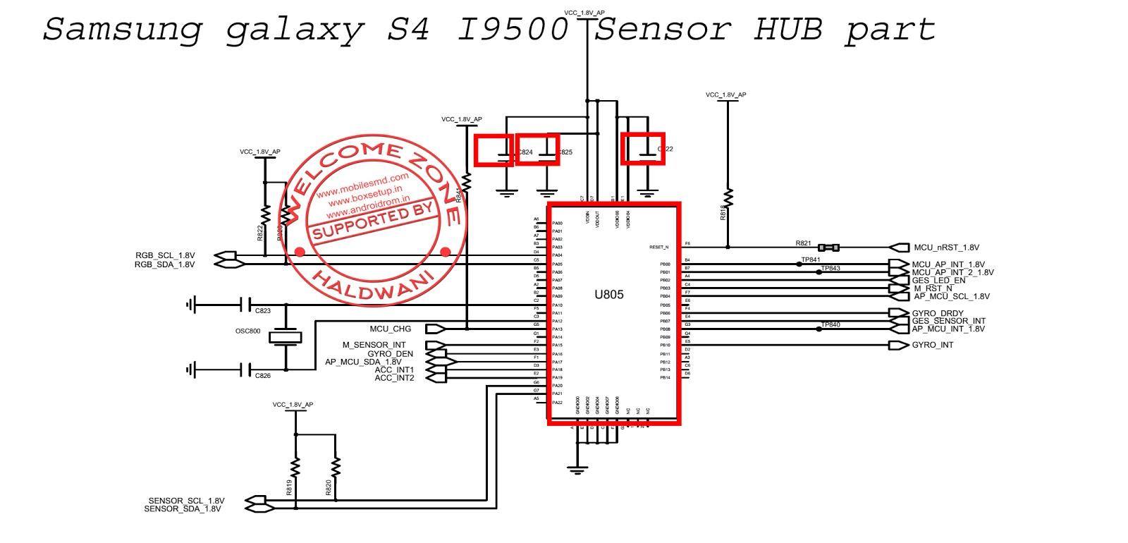Samsung Galaxy S4 I9500 Sensor Hub Part Not Working