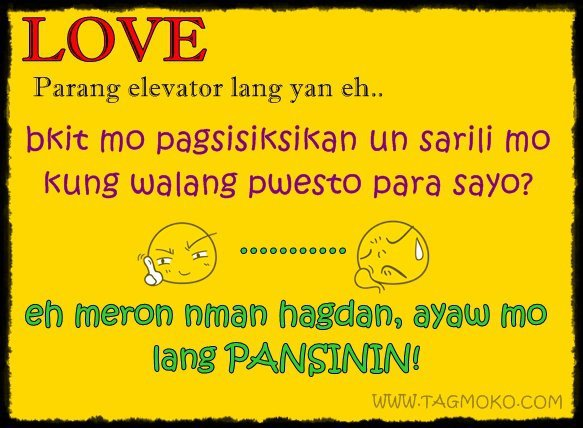 Funny love quotes tagalog in twitter