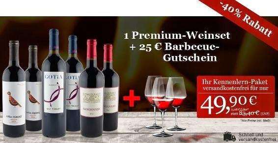 Weinpaket mit Rabatt, Geschenk und Gutschein