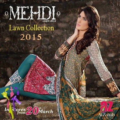 Al Zohaib Summer Dress Mehdi Lawn Collection 2015