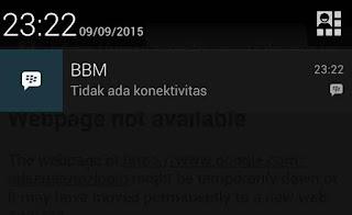 BBM Android Tidak Terhungung, Tapi Internet Lancar?