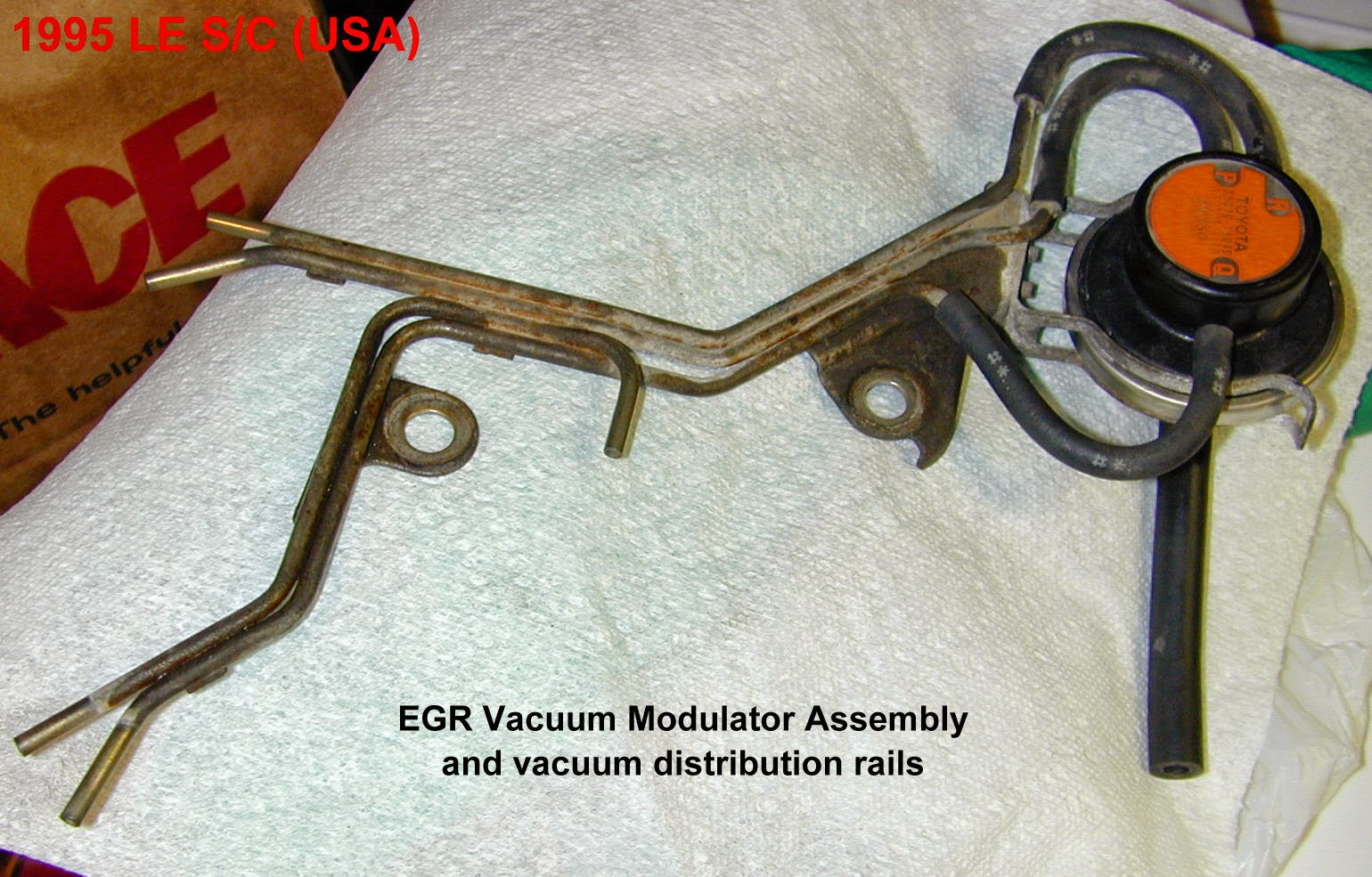 Egr System Clean Out And Code P0401 About My Previa Sienna 1994 Toyota Engine Diagram Http Zenseekernet Previamaintenancehtm