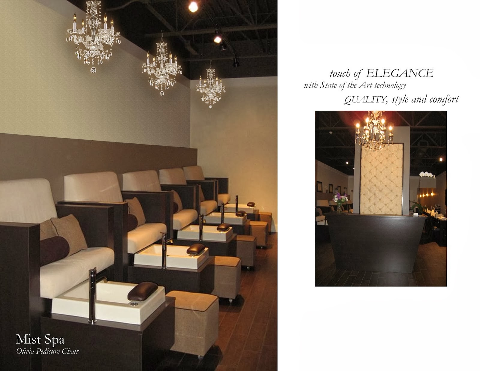 Luxury nail salon interior design - We Have Extensive Experience In The Design And Development Of Nail Spa And Salon Interiors