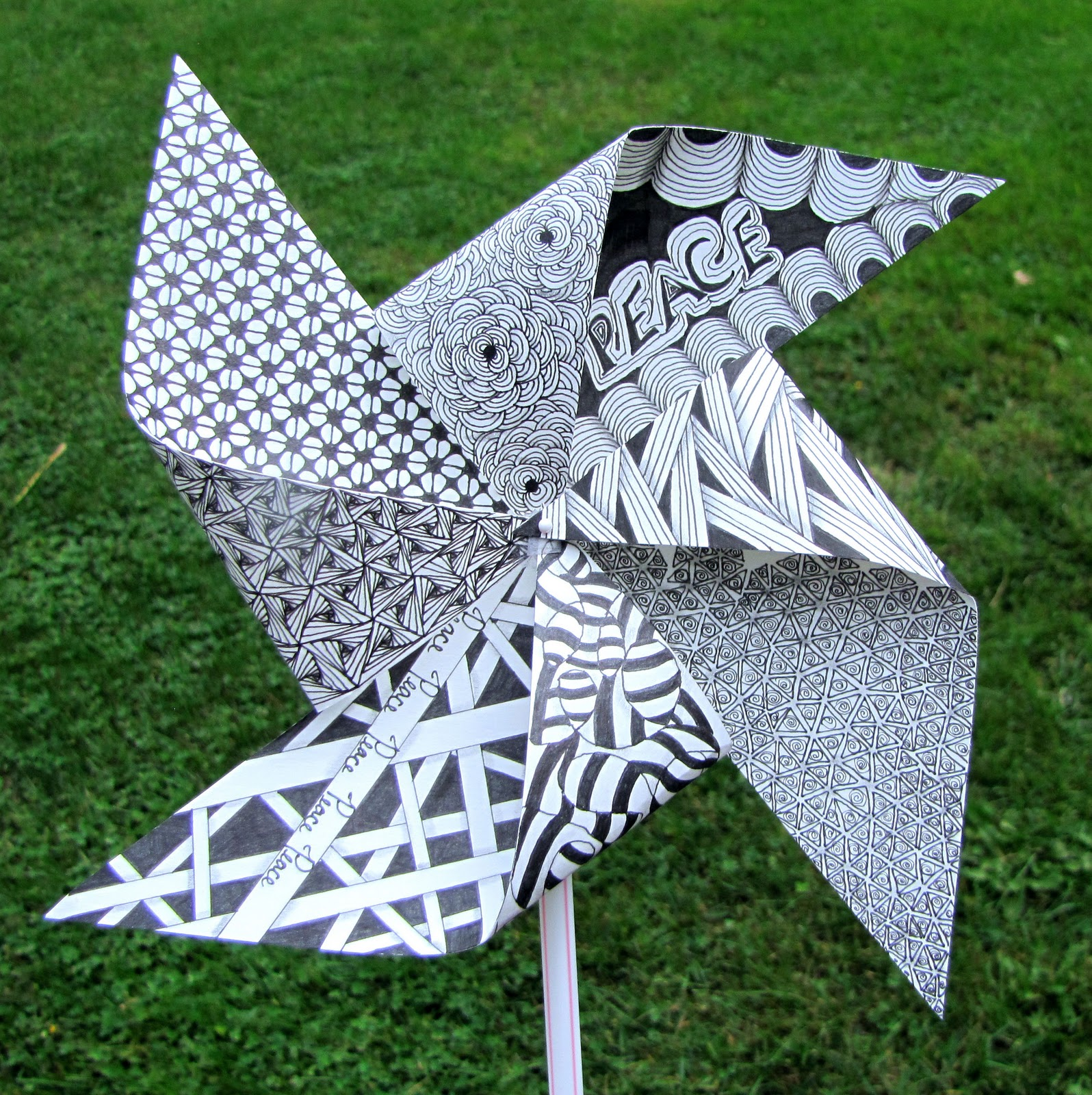 Tinker Tangles: Pinwheels for Peace