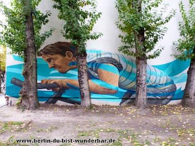 Berlin, graffiti, streetart, art, gebäude, jbak