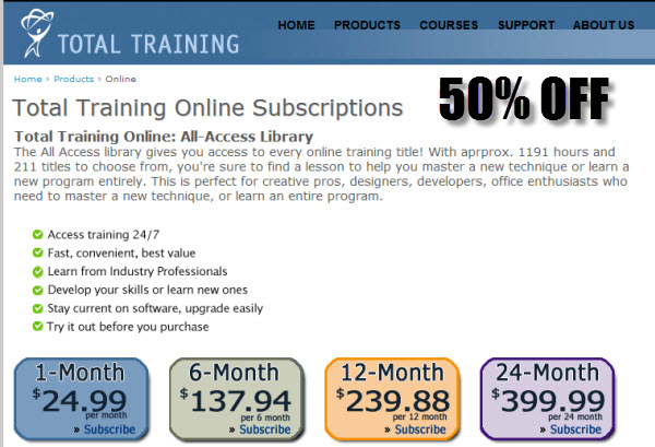 Total Training Online Subscriptions