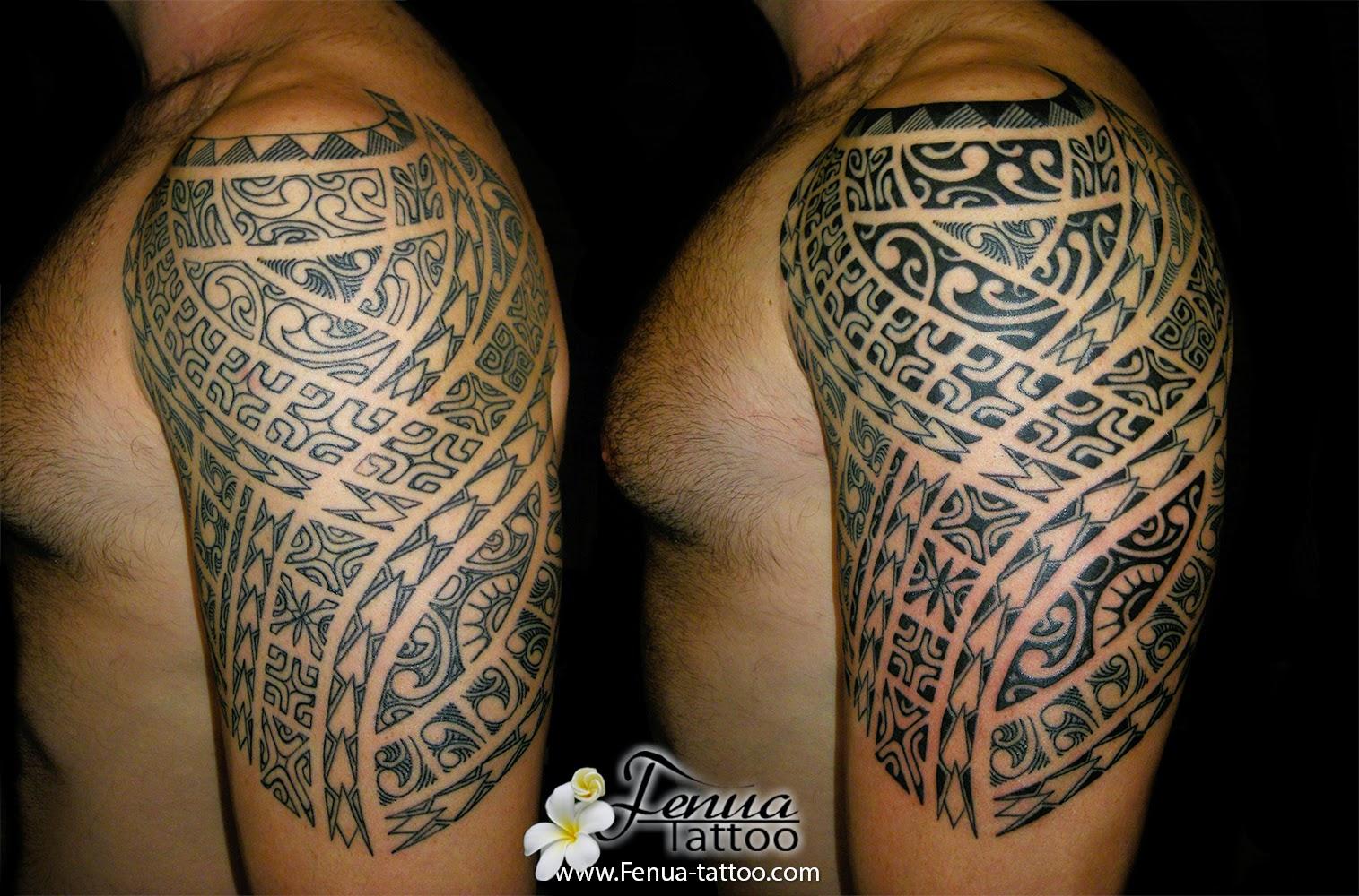 Tatouage Polynesien Tatoueur Pierre Martinez Salon Tahiti Tattoo