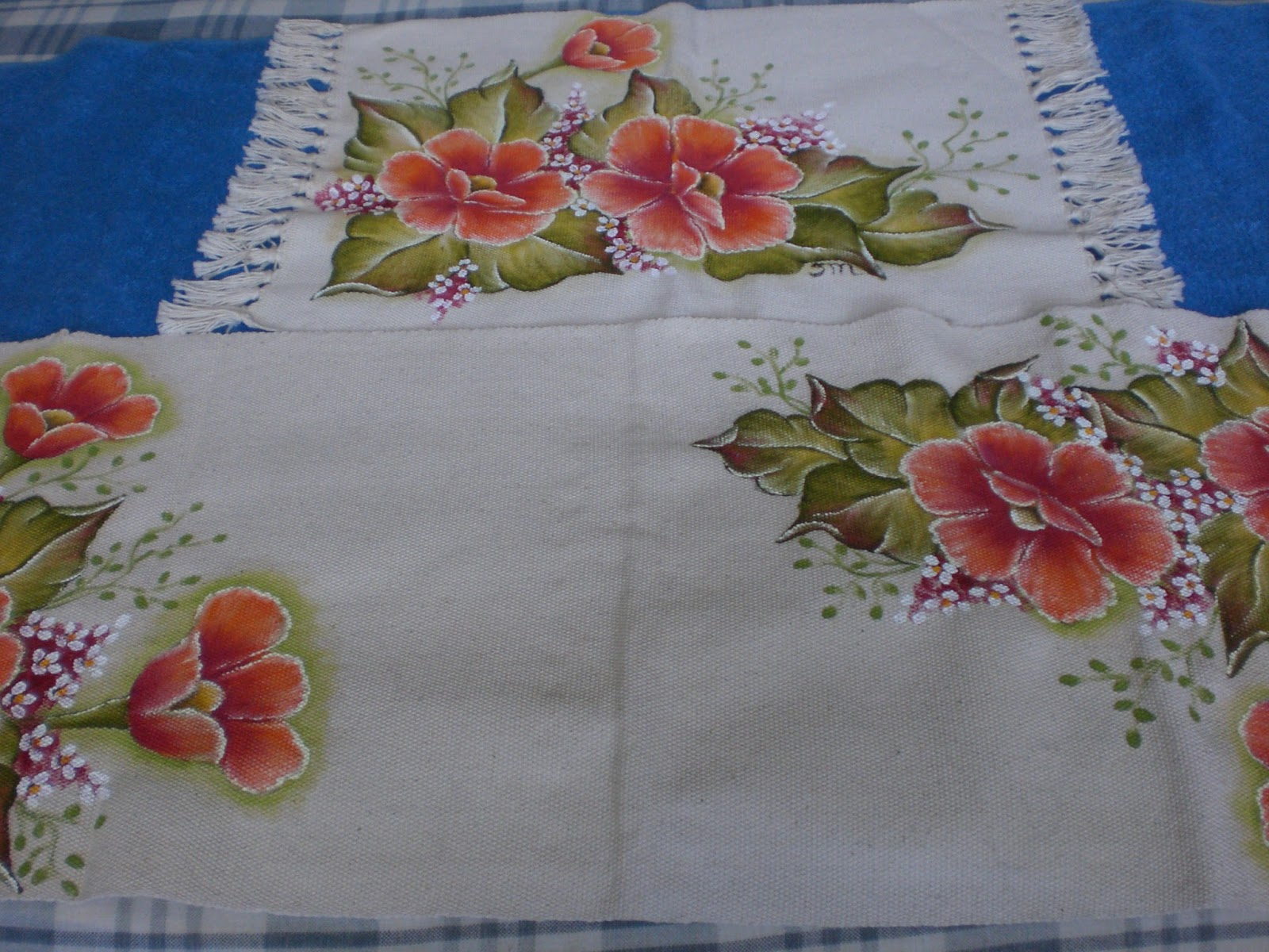 Sonia Monsores Pintura Tapetes -> Tapete De Tecido Para Cozinha