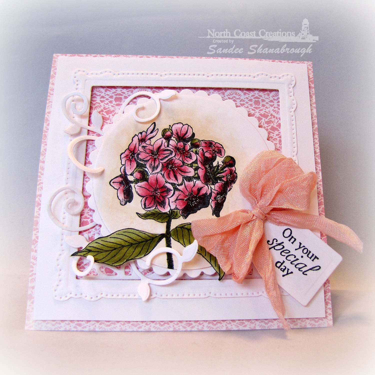 Stamps - North Coast Creations Floral Sentiments 6, ODBD Custom Recipe Card and Tags Dies, ODBD Custom Fancy Foliage Die, ODBD Heart and Soul Paper Collection