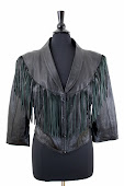 Crop Black Leather Fringe Biker Jacket