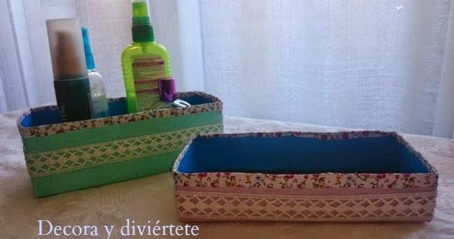 Como hacer unas cestas para ordenar el ba o decora y - Cestas para banos ...