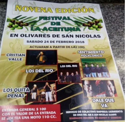 9º Festival de la Aceituna en Olivares de San Nicolás