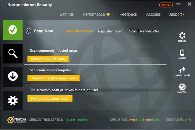Norton Internet Security este serviciul complet de securitate pentru.