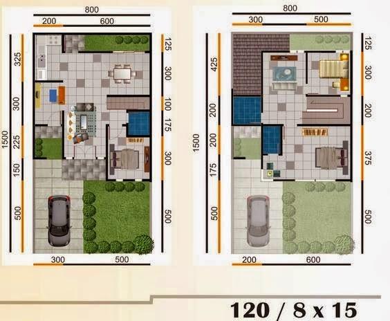 Desain Rumah Minimalis 2 Lantai Luas Tanah 120