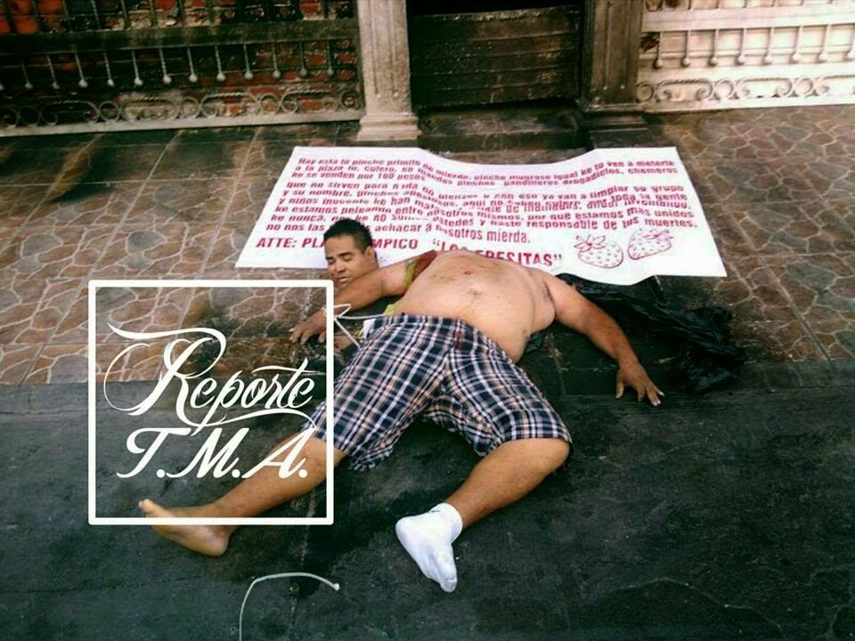 IMAGENES FUERTES Aparece narcomanta con descuartizados en Tampico,