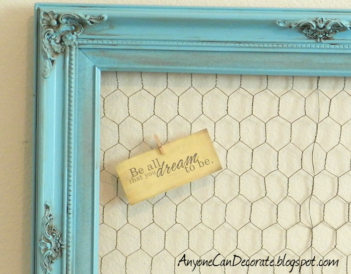 Anyone Can Decorate: $5 DIY Memo Board - Thrifty Crafty Chic