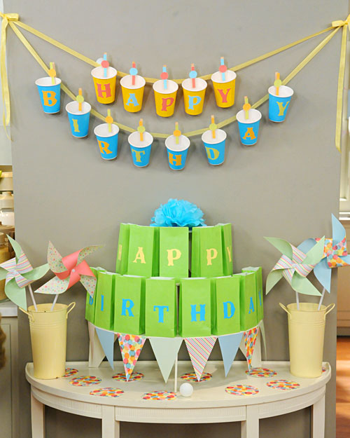 Spotted ink our top 10 diy party decorations for 1 birthday decoration ideas