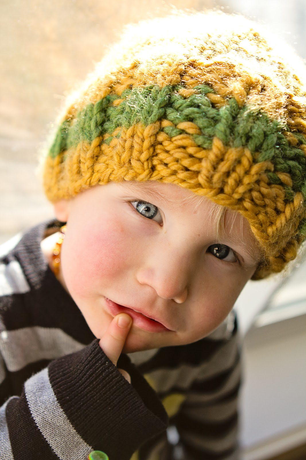 hands full of happiness}: Cozy Cap - Knitting Pattern