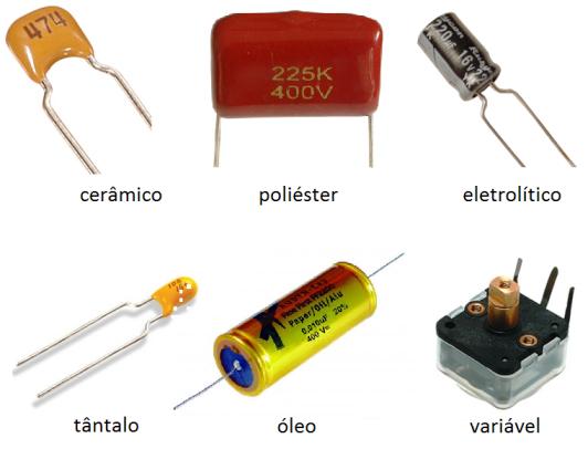 Conhecendo componentes eletronicos Capacitores