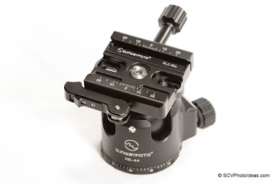 Sunwayfoto DLC-60L Duo QR Clamp on XB-44 LP Ball head