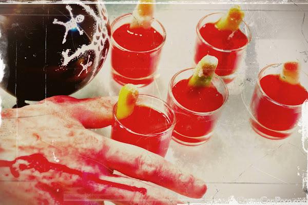 Receta Especial de Halloween o Samhain - Chupitos y cocteles de Sangre