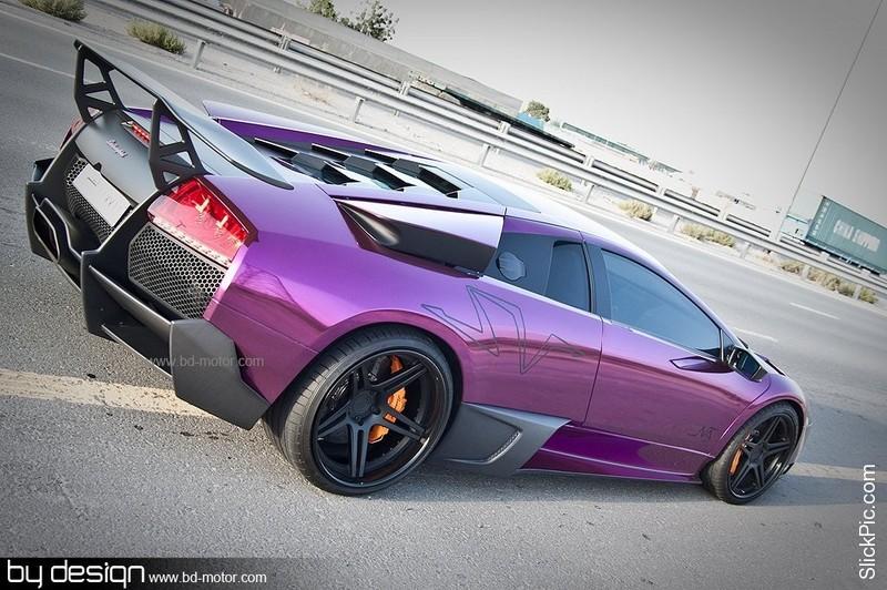 Matte Purple Lamborghini Lp 670 4 Sv Becomes Chrome Purple Auto