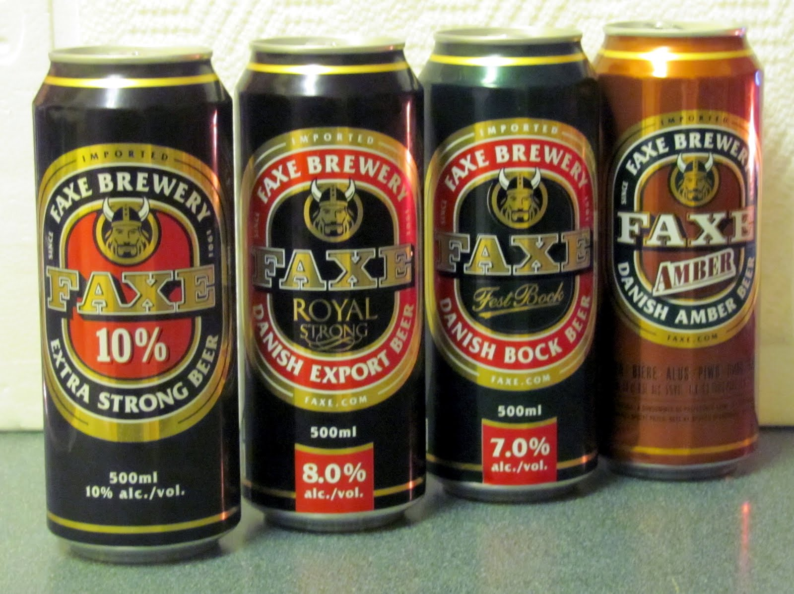 The World of Gord: Beer of the Week - The Beers of Faxe Brewery