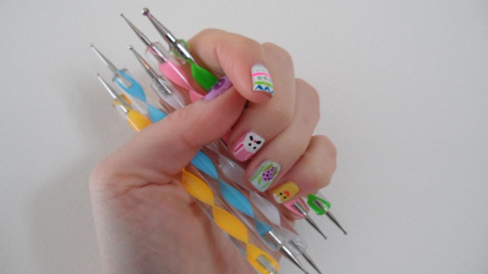 Nail art dotting tool ideas i used dotting tools to apply