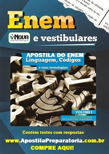 Apostila Impressa ENEM Edição 2014 Coleção Completa.