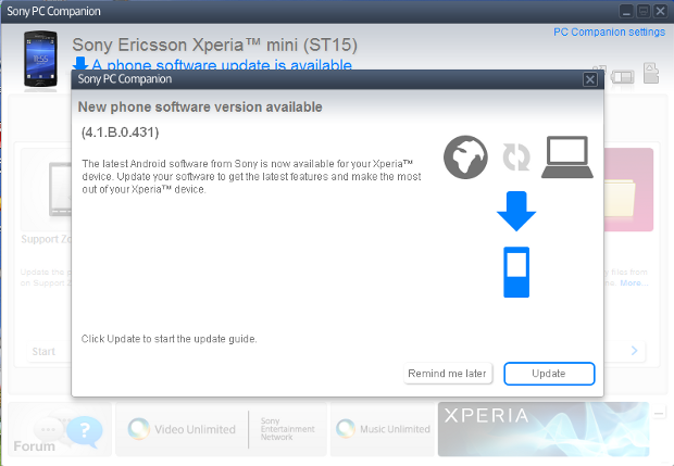 Xperia Mini ST15i Android ICS Update now Available