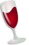 wine logo linux