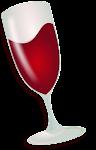 wine logo linux